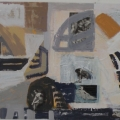 Akrylmaleri på collage