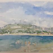 Akvarel fra en sommerdag på Sardinien